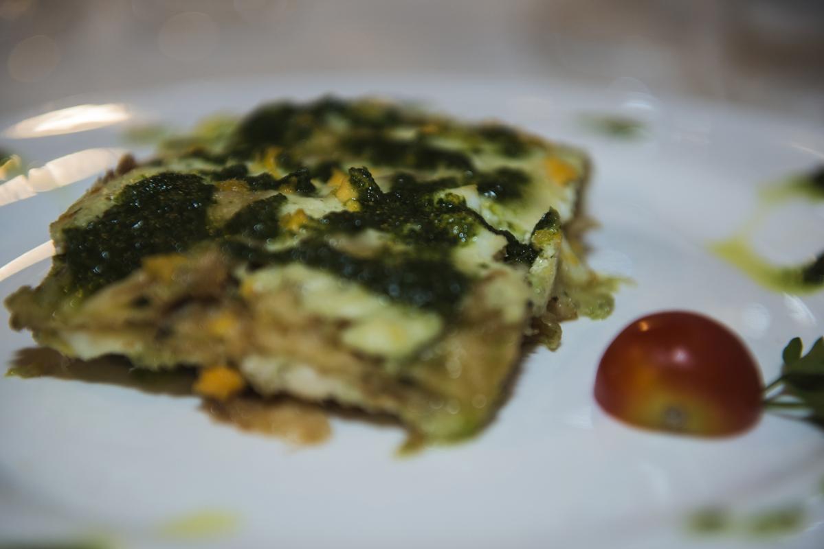 Parmigiana bianca con erbe aromatiche